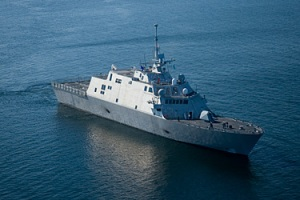 LCS-1 during sea trials (Copyright © 2008 Lockheed Martin Corporation. All rights reserved)