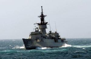La fragata ARM Abasolo (F-212), gemela de la ARM Mina (F-214). Click en la foto para acceder a las caracteristicas del buque.