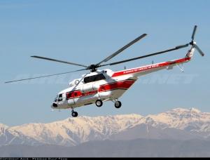 El Mi-17 es un popular helicoptero para Búsqueda y Rescate. En la foto un MI-17 de la Medialuna Roja Irani. (