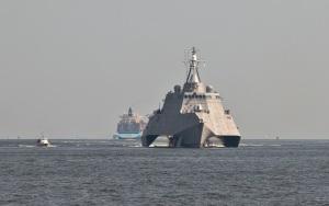 """El USS """"Independence"""" LCS-2 durante las pruebas de mar (Foto: GDLCS)"""